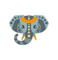Elephant African Animals Stylized Geometric Head vector