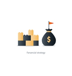 Financial stability concept budgeting vector