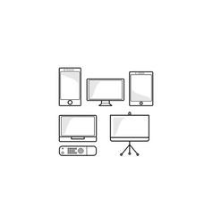 gadget icon logo vector image