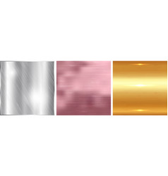Gold silver and rose gold gradient square vector