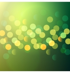 green and yellow bokeh lights vector image