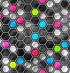 grid seamless pattern with grunge effect vector image vector image