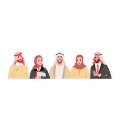 group working arabian business people diversity vector image