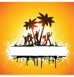 grunge summer party vector image