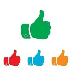 Hand sign Colorfull set vector image