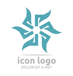 Icon flower shape design symbol abstract vector