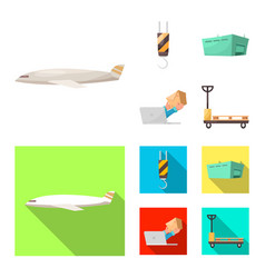 isolated object goods and cargo symbol set of vector image
