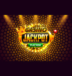 Jackpot casino coin cash machine play now vector