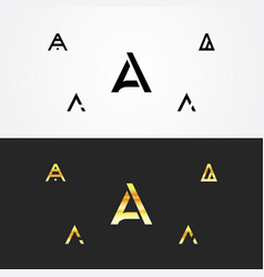 letter a logo template set vector image
