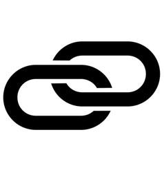 Linkage flat icon symbol vector