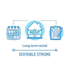 Long-term rental concept icon vector