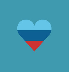 luhansk peoples republic flag icon in a heart vector image