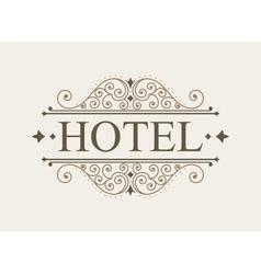 Luxury logo and monogram line art template vector