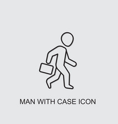 Man with case icon vector