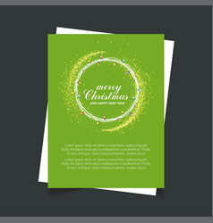 merry christmas and happy new year green vector image