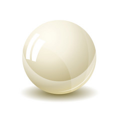 pearl isolated on white background vector image