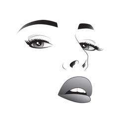 Pretty woman face vector image