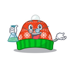 Professor winter hat in mascot shape vector