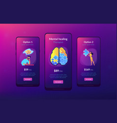 psychotherapy and psychology app interface vector image
