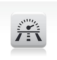 race speed icon vector image