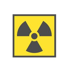 Radioactive warning yellow triangle sign vector