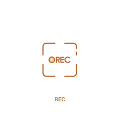 Rec concept 2 colored icon simple line element vector