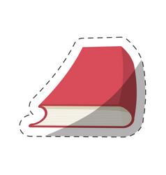 red book study school cut line vector image vector image