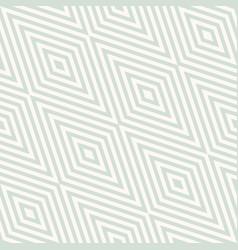 retro vintage geometric seamless rhombuses pattern vector image
