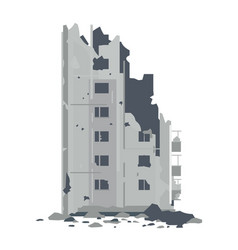 Ruins from destroyed building vector