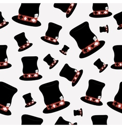 Seamless Hatter Hat from Wonderland World vector image