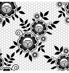 seamless retro floral wedding lace pattern vector image