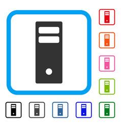 server mainframe framed icon vector image