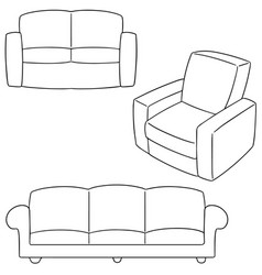 set of sofa vector image