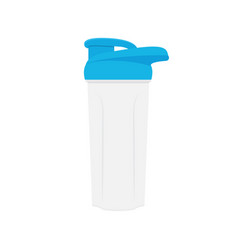 shaker for protein shakes isolated on white vector image