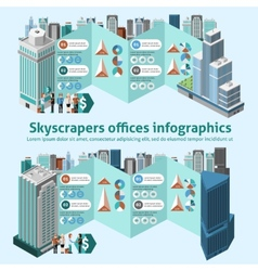 Skyscraper Offices Infographics vector