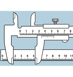 Sliding calliper and rule vector