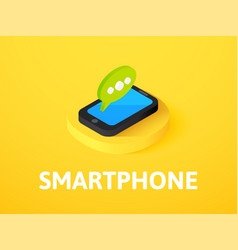 smartphone isometric icon isolated on color vector image