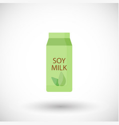 soy milk flat icon lactose free flat vector image