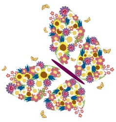 Spring butterfly 2 vector