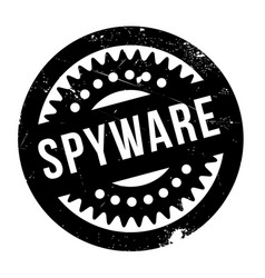 spyware rubber stamp vector image
