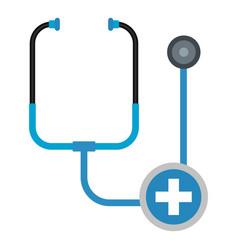 Stethoscope icon flat style vector