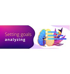 Strategy planning header banner vector