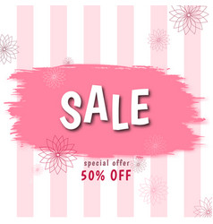 stylish banner discount offer price label vector image