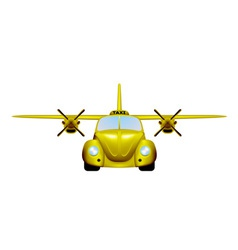 Taxi Retro flying car vector