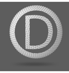 The letter D Polygonal letter Abstract Creative vector image