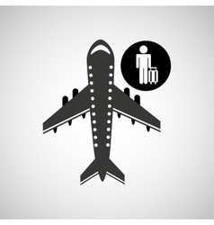 Travel flying concept traveler baggage design vector