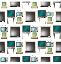 tv screen lcd monitor and notebook tablet vector image