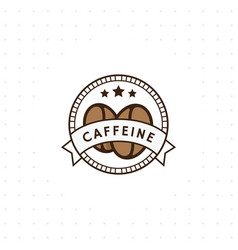 vintage coffee logo vector image