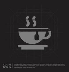 Warm drink icon - black creative background vector