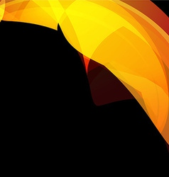 yellow wave style background vector image